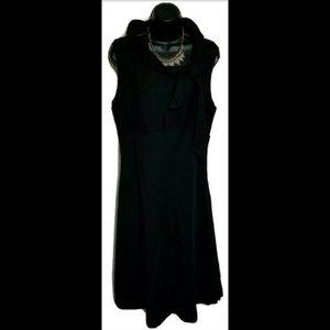 Jillian Jones Mock Neck Linen Blend Scarf Dress 12